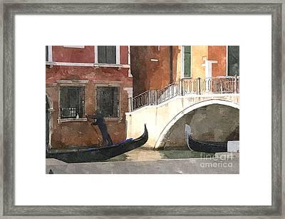 Venice Rush Hour Framed Print