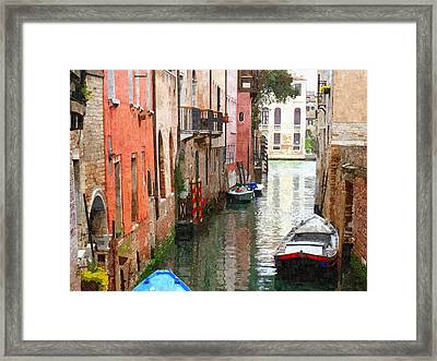 Venice Side Canal Framed Print by Bishopston Fine Art