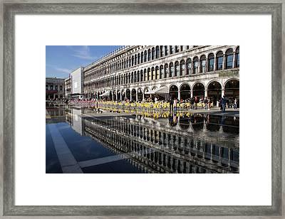 Venice Italy - St Mark's Square Symmetry Framed Print by Georgia Mizuleva
