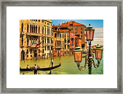 Venice Street Lamp Framed Print