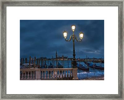 Framed Print featuring the photograph Venice Streetlight by Phyllis Peterson