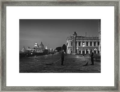 Venice Sweepers Framed Print by Marion Galt