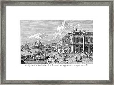 Venice The Molo, 1735 Framed Print by Granger
