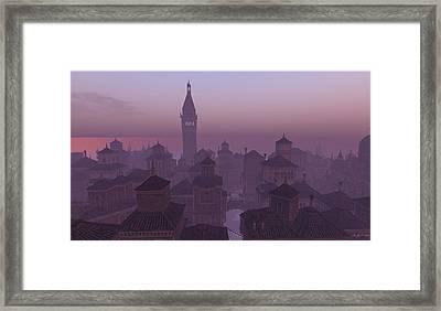 Venice Twilight Framed Print by Amanda Holmes Tzafrir