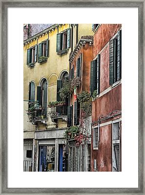 Windows In Venice  Framed Print