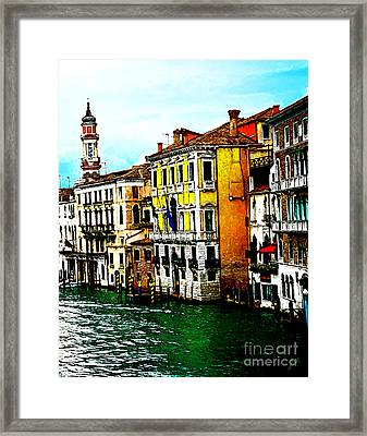 Framed Print featuring the digital art Venice - Venezia by Ze  Di