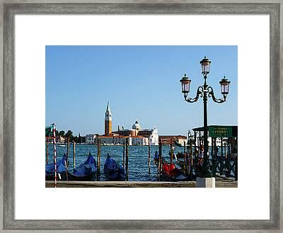 Venice View On Basilica Di San Giorgio Maggiore Framed Print by Irina Sztukowski