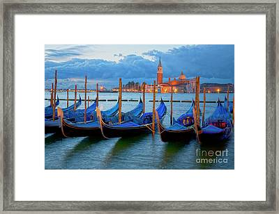 Venice View To San Giorgio Maggiore Framed Print by Heiko Koehrer-Wagner