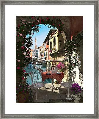 venice Vue Framed Print by Dominic Davison