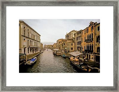 Venice Waterfront Marketplace Framed Print