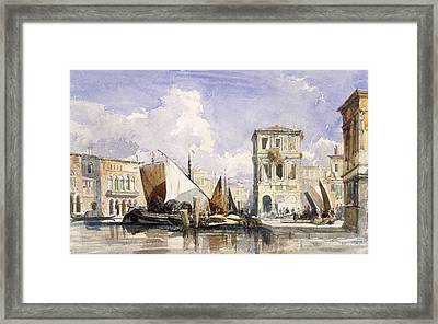 Venice Framed Print by William James Muller