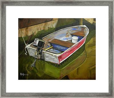 The Fisherman Is Gone Framed Print