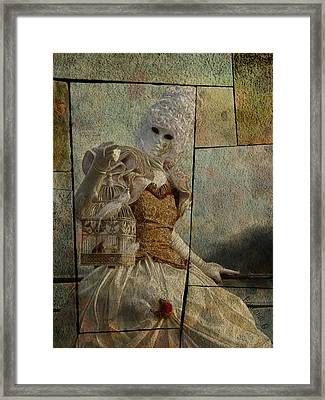 Framed Print featuring the photograph Venitian Carnival-bird In A Cage by Barbara Orenya