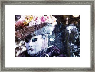 Framed Print featuring the photograph Venitian Carnival - I Love Mystery by Barbara Orenya