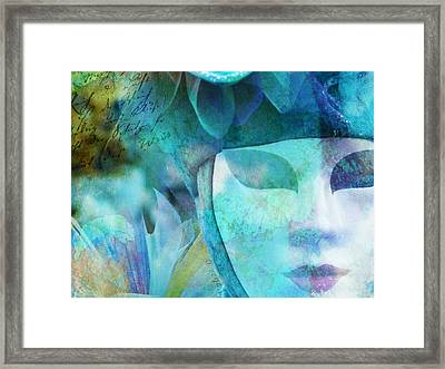 Framed Print featuring the photograph Venitian Carnival - Mask by Barbara Orenya