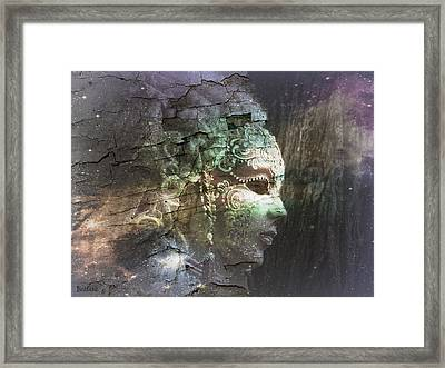 Framed Print featuring the digital art Venitian Carnival - The Shimmering Lady by Barbara Orenya