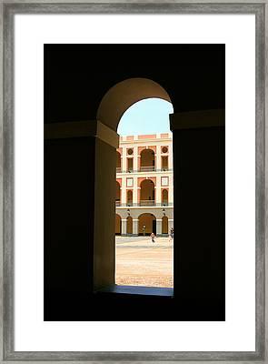 Ventana De Arco Framed Print