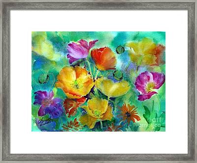 Ventana Poppies Framed Print by Summer Celeste