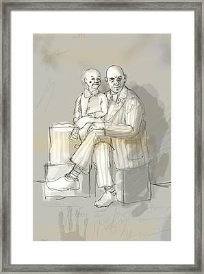 Ventiloquist  Framed Print