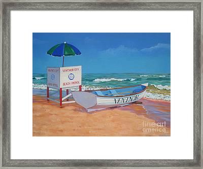 Ventnor Beach Patrol Framed Print by Elisabeth Olver
