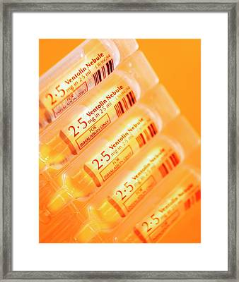 Ventolin Asthma Drug Framed Print by Mark Sykes