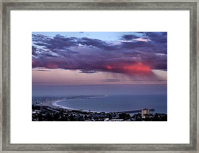 Framed Print featuring the photograph Ventura Beach by Michael Gordon
