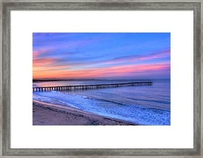 Ventura Beach Pier Framed Print by Walt Miller