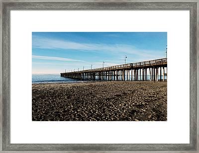 Ventura Beach Pier Framed Print