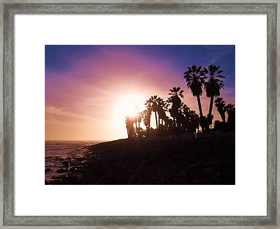 Ventura Beach Sunset Framed Print