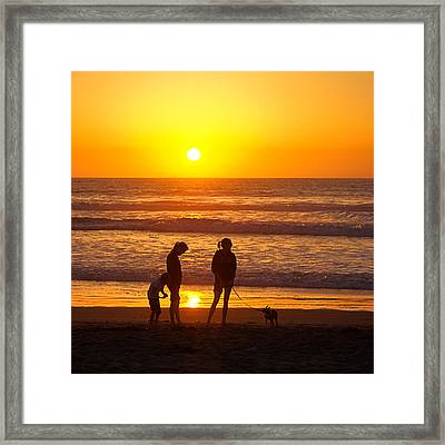 Ventura Gold Framed Print