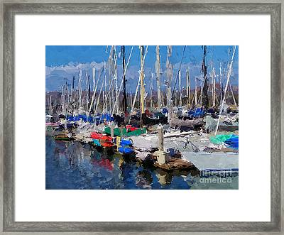 Ventura Harbor Village Framed Print