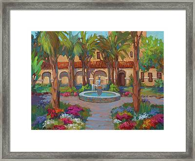 Ventura Mission Framed Print by Diane McClary