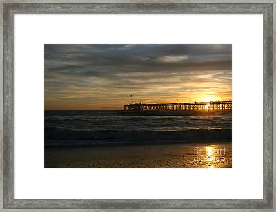 Ventura Pier 01-10-2010 Sunset  Framed Print