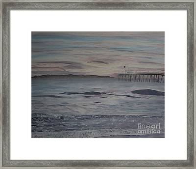 Ventura Pier High Surf Framed Print