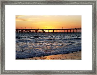 Ventura Pier II Framed Print by Caroline Lomeli