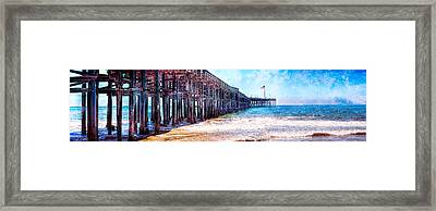Framed Print featuring the photograph Ventura Pier by Steve Benefiel