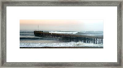 Framed Print featuring the photograph Ventura Storm Pier by Henrik Lehnerer
