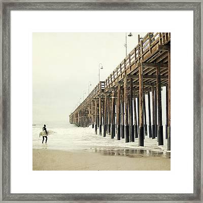 Ventura Surfer  Framed Print by Bree Madden