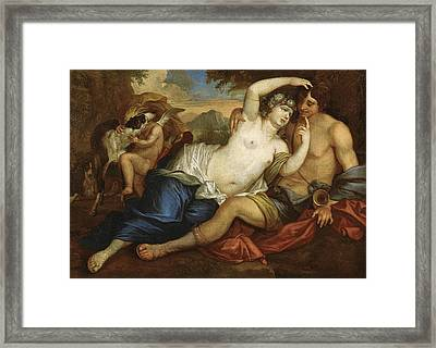Venus And Adonis Framed Print by Jan Boeckhorst