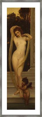 Venus And Cupid Framed Print by Frederic Leighton