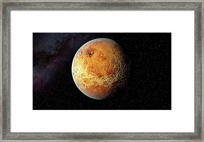 Venus And Its Rocky Surface Framed Print by Joe Tucciarone