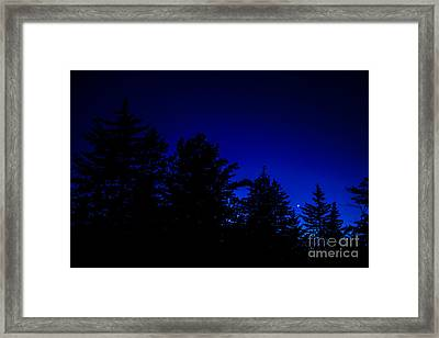 Venus And Saturn Over Cranberry Wilderness Framed Print by Thomas R Fletcher