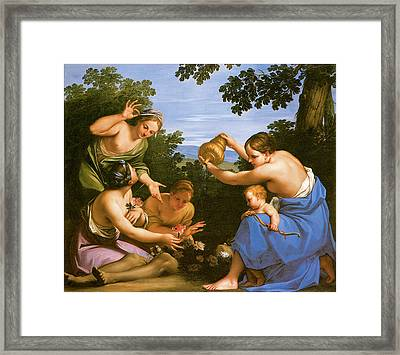 Venus Anointing The Dead Adonis Framed Print by Marcantonio Franceschini