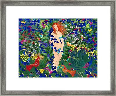 Venus At Exotic Garden Framed Print