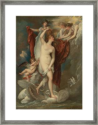 Venus At Her Birth Attired By The Three Graces Framed Print