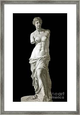 Venus De Milo Sculpture, 1880s Artwork Framed Print by Bildagentur-online