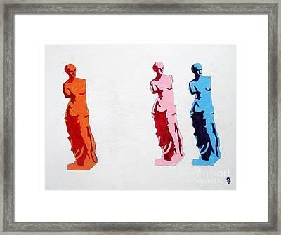 Venus De Milo Statue Framed Print by Venus