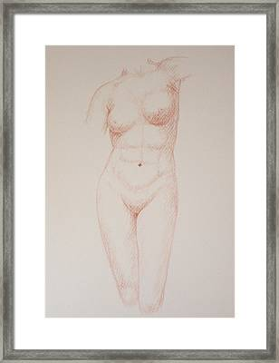 Female Torso #3 Framed Print by Deborah Dendler