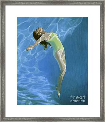 Venus Goes H2o  Framed Print