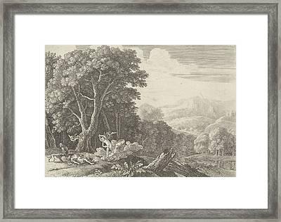 Venus Mourns The Death Of Adonis, Herman Van Swanevelt Framed Print